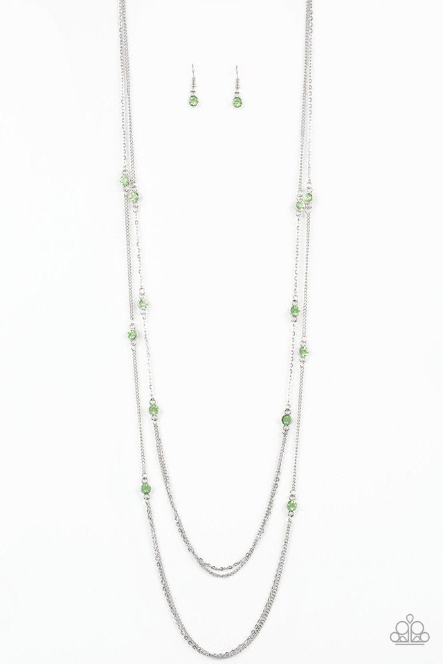 Sparkle Of The Day Green Necklace