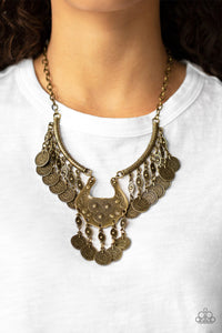 Treasure Temptress Brass Necklace