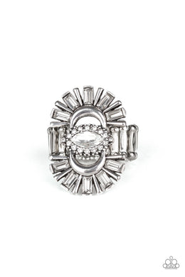 Deco Diva White Ring