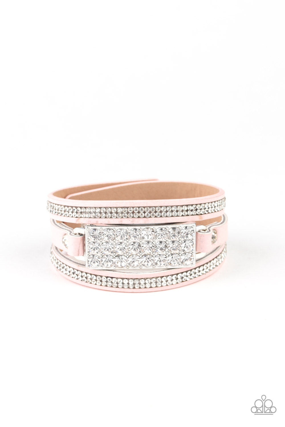 Shockingly Sparkly Pink Bracelet