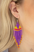 Load image into Gallery viewer, BEADazzle Me Purple Earring