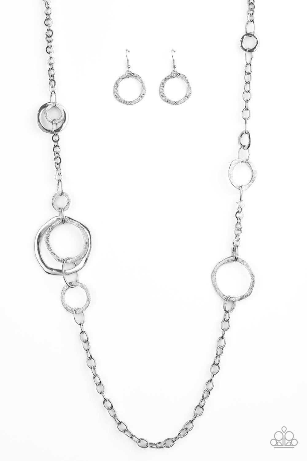 Amped Up Metallics Silver Necklace