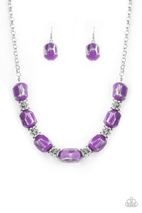 Girl Grit Purple Necklace