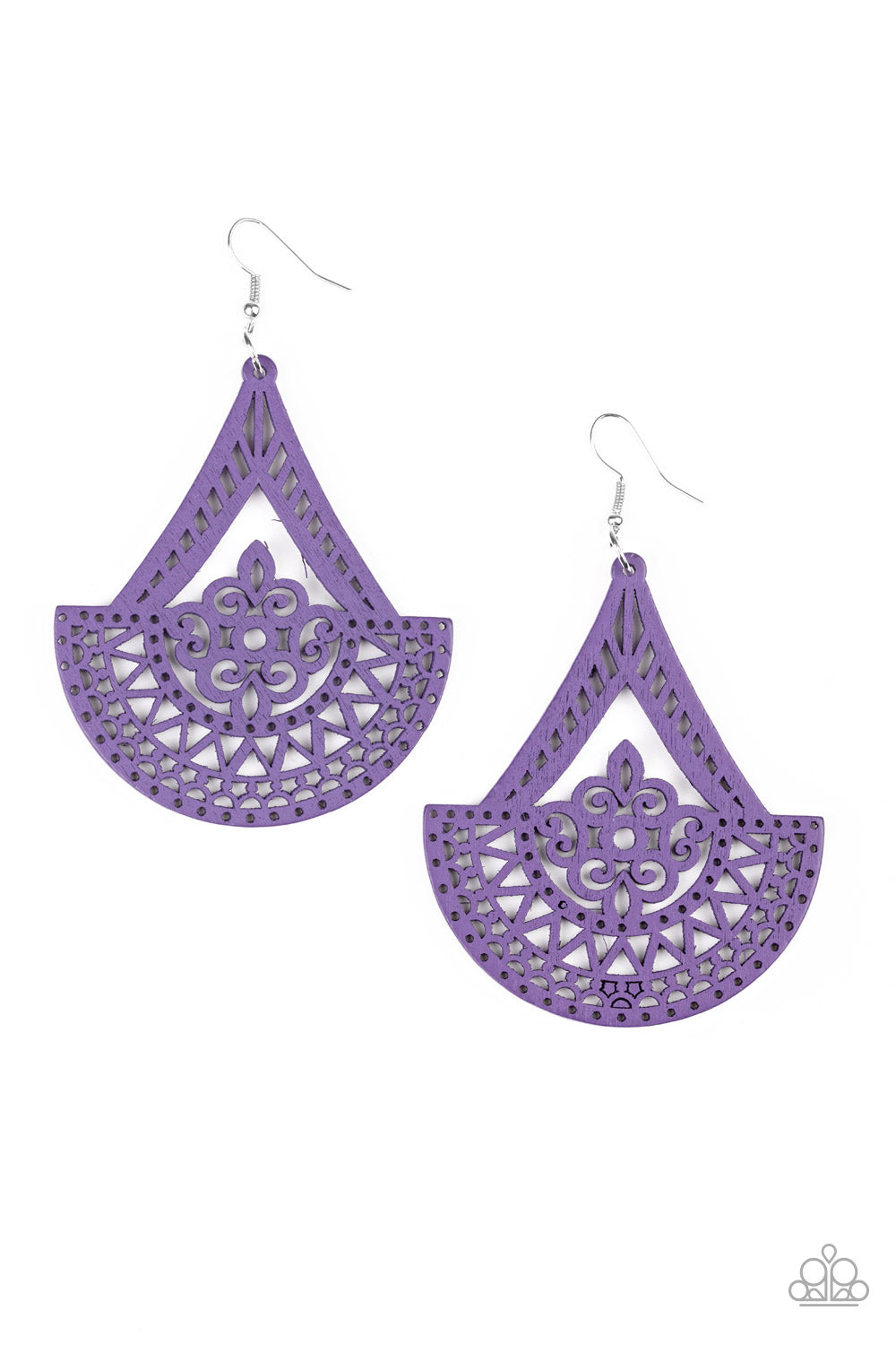 Tiki Sunrise Purple Earring