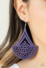 Load image into Gallery viewer, Tiki Sunrise Purple Earring