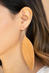 Naturally Beautiful Brown Earring