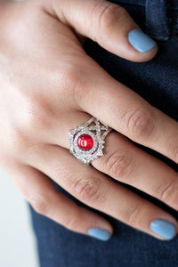 Decadently Dreamy Red Ring