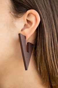 Boardroom Bravado Brown Earring