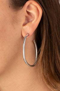 Rough It Up Silver Earring