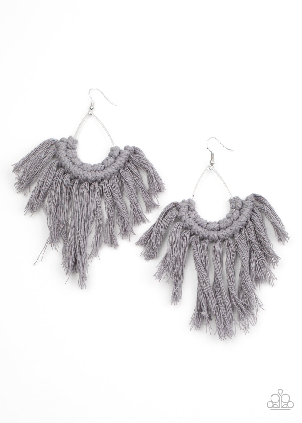 Wanna Piece Of MACRAME? Silver Earring