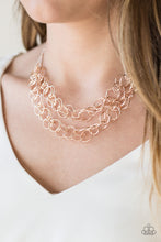 Load image into Gallery viewer, Circus Tent Tango Rose Gold Necklace