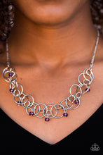 Load image into Gallery viewer, You Can't Handle The Sparkle Purple Necklace