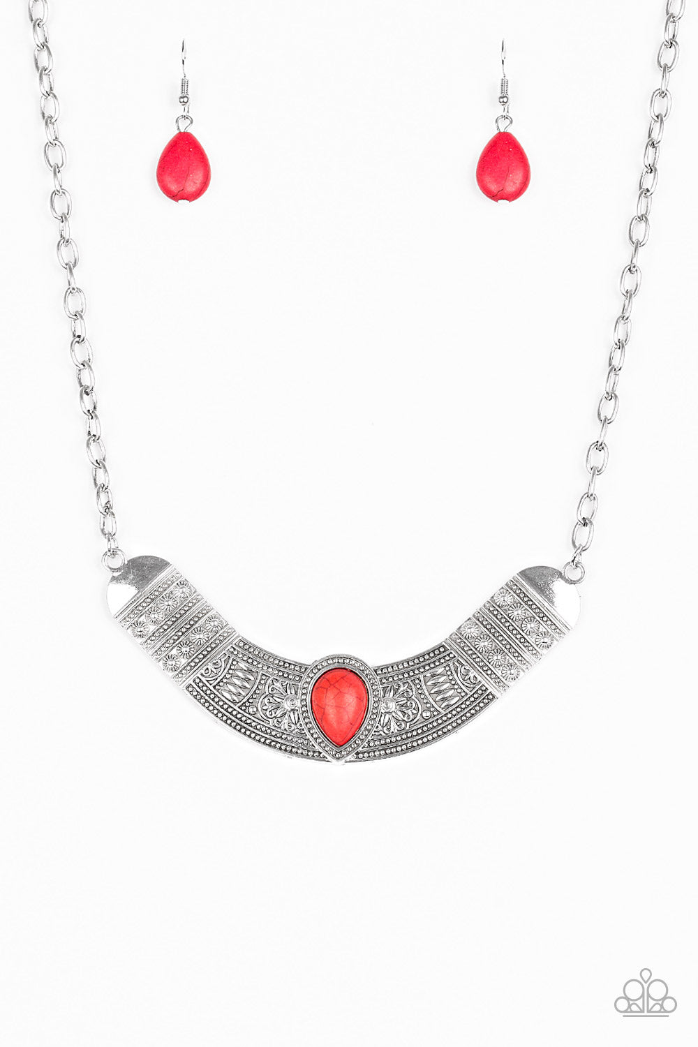 Very Venturous Red Necklace