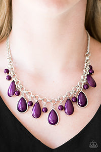This Side Of Malibu Purple Necklace
