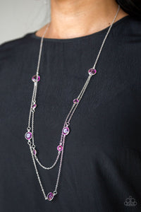 Raise Your Glass Purple Necklace