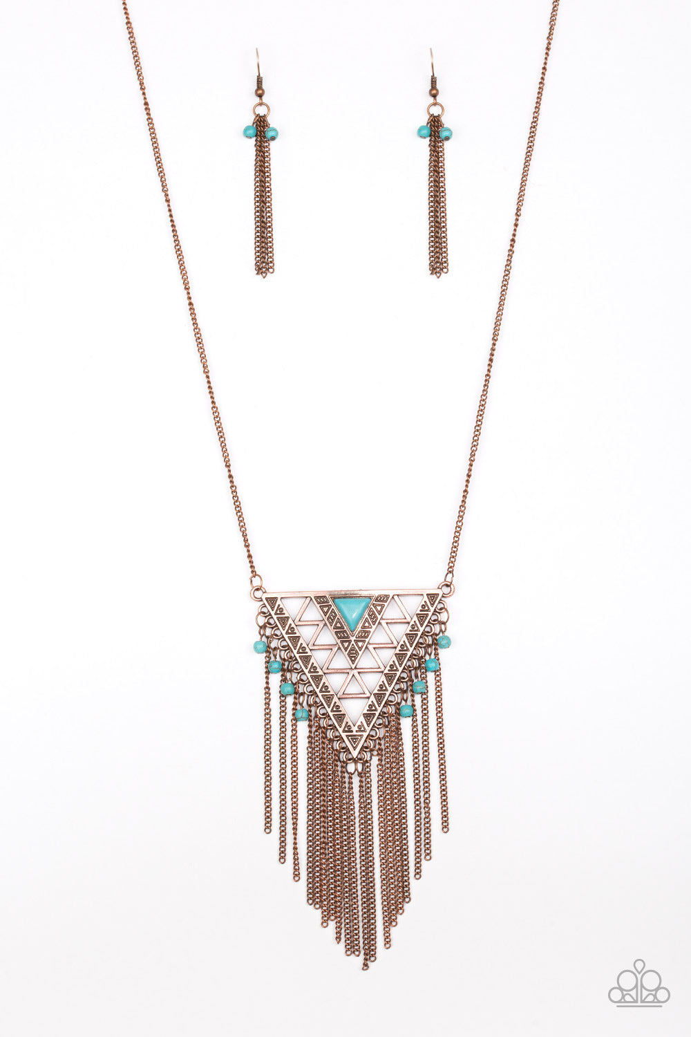Colorfully Colossal Copper Necklace