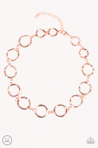 Cave Tour Choker Copper Necklace