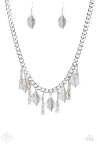 Serenely Sequoia Silver Necklace