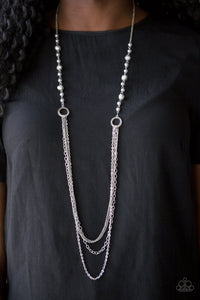 Contemporary Cadence Silver Necklace