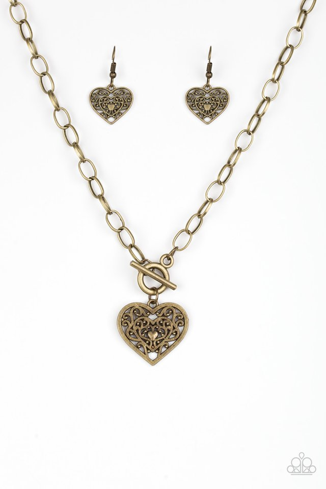 Victorian Romance Brass Necklace