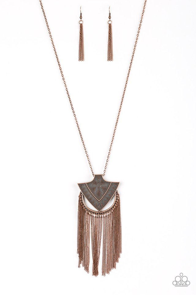 Hunt Or Be Hunted Copper Necklace