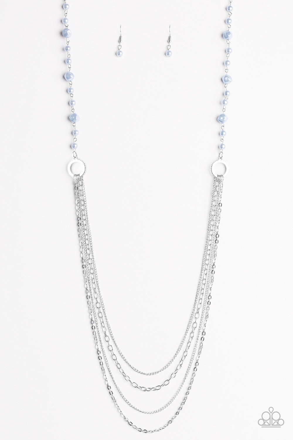 Contemporary Cadence Blue Necklace