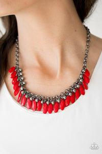 Jersey Shore Red Necklace