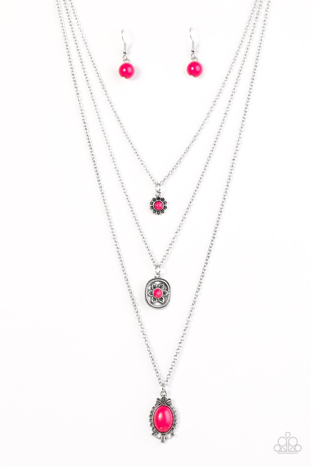 Southern Solstice Pink Necklace