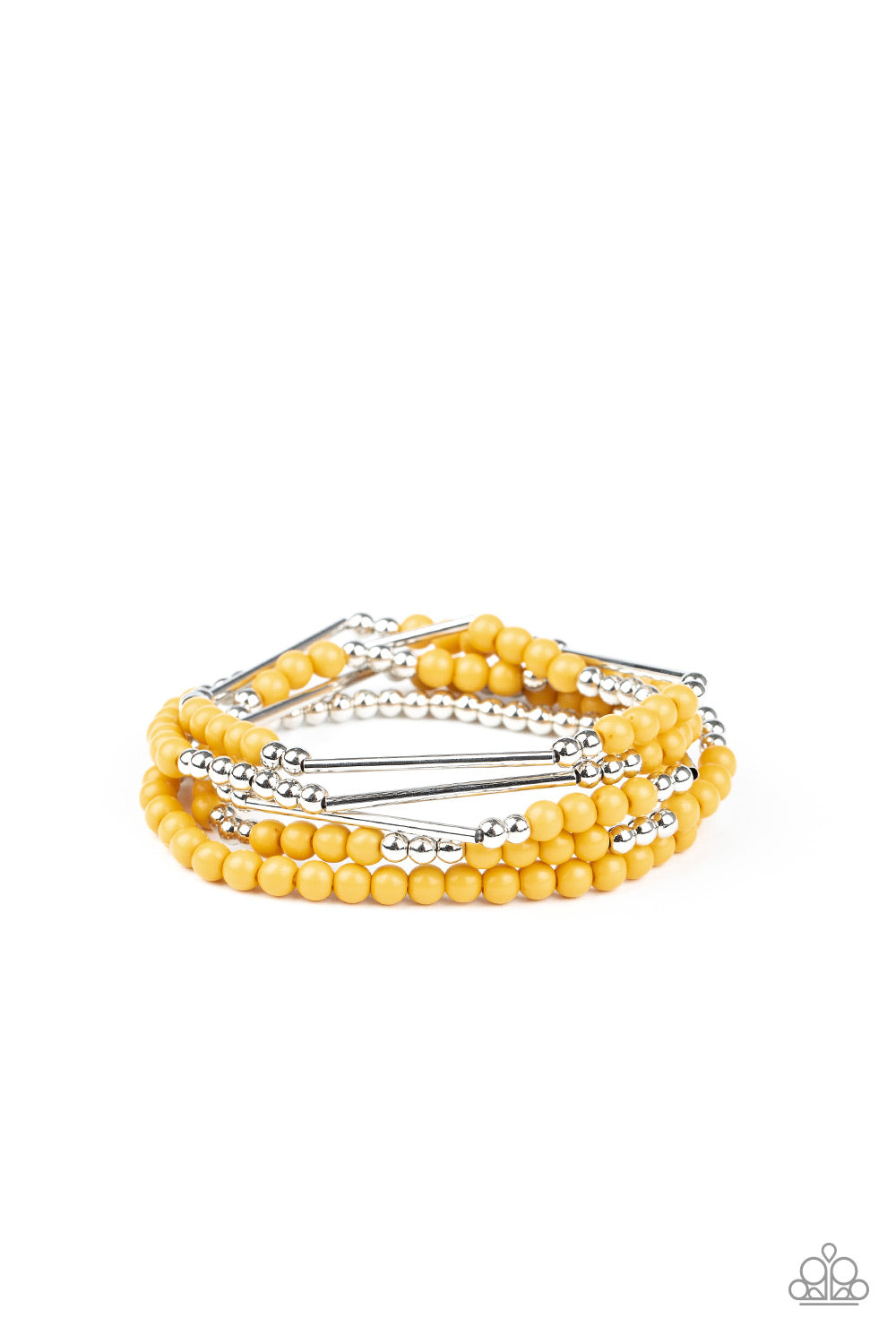 BEAD Between The Lines Yellow Bracelet