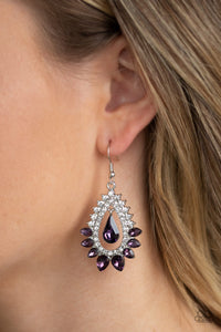 Boss Brilliance Purple Earring
