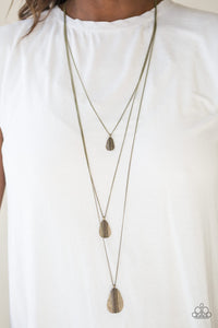 Sonoran Storm Brass Necklace