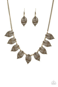 Leafy Lagoon Brass Necklace