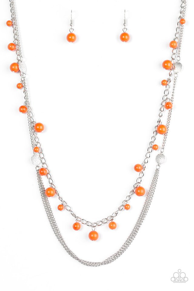 Color Spree Orange Necklace