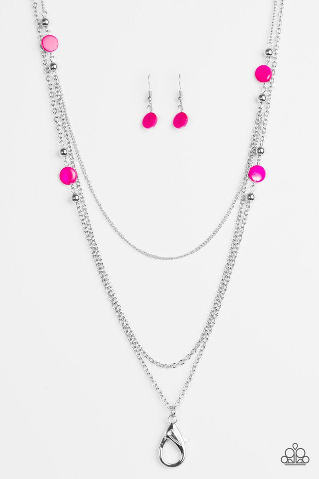 So SHORE Of Yourself Lanyard Pink Necklace