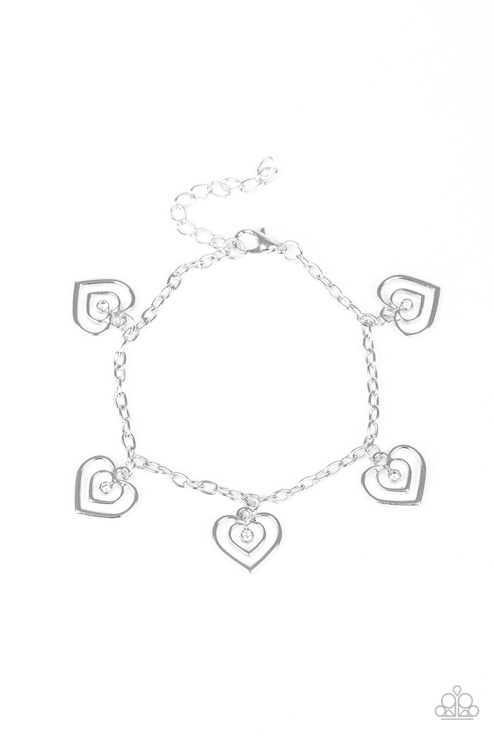 Unbreakable Hearts White Bracelet