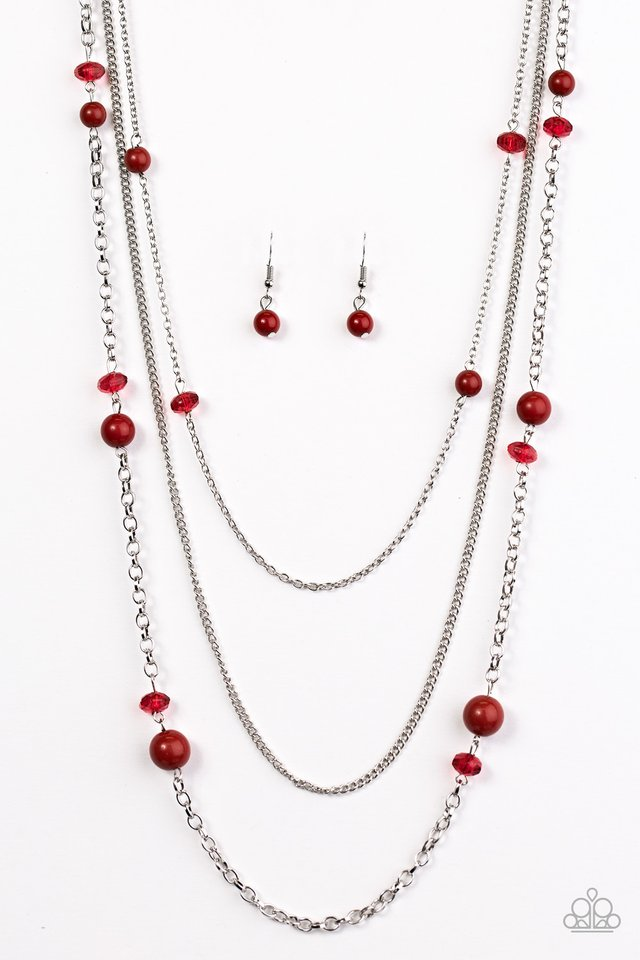 Triple Tango Red Necklace