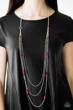 Load image into Gallery viewer, Triple Tango Red Necklace