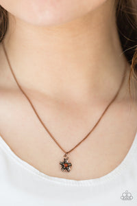Boho Botanical Copper Necklace
