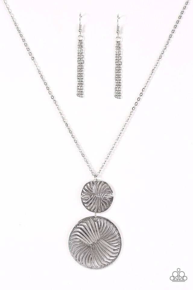 Spin Your Wheels Silver Necklace