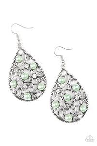 Glowing Vineyards green Earring