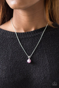Glamour Girl Purple Necklace