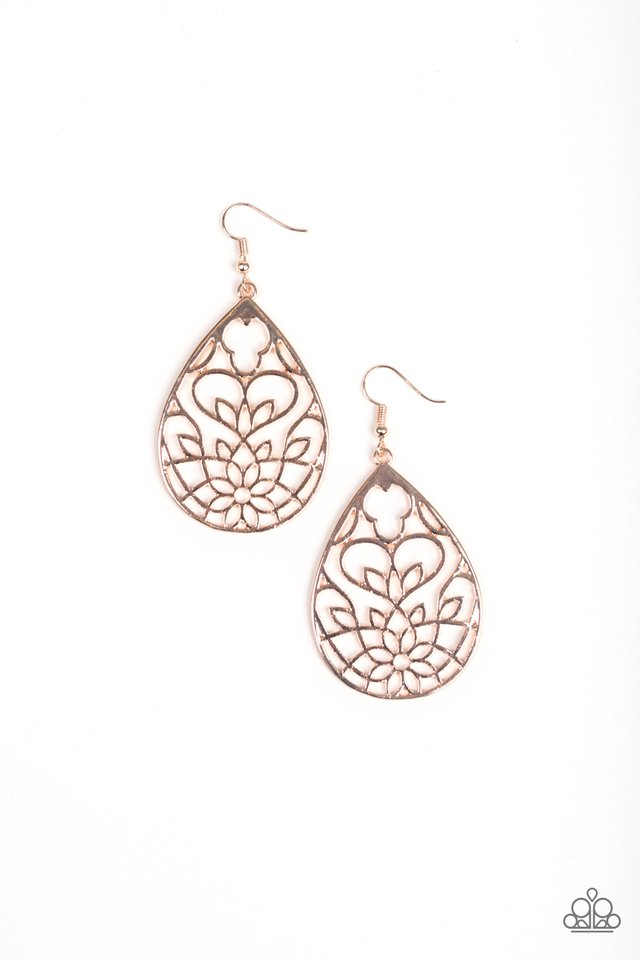 Lovely Lotus Rose Gold Earring