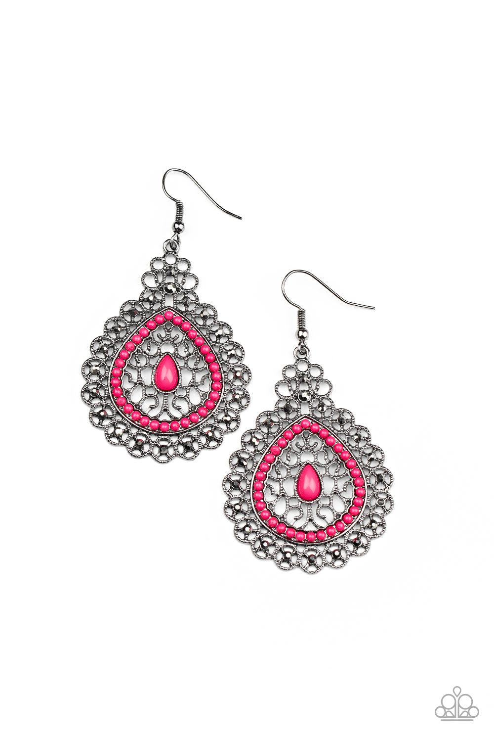 Carnival Courtesan Pink Earring