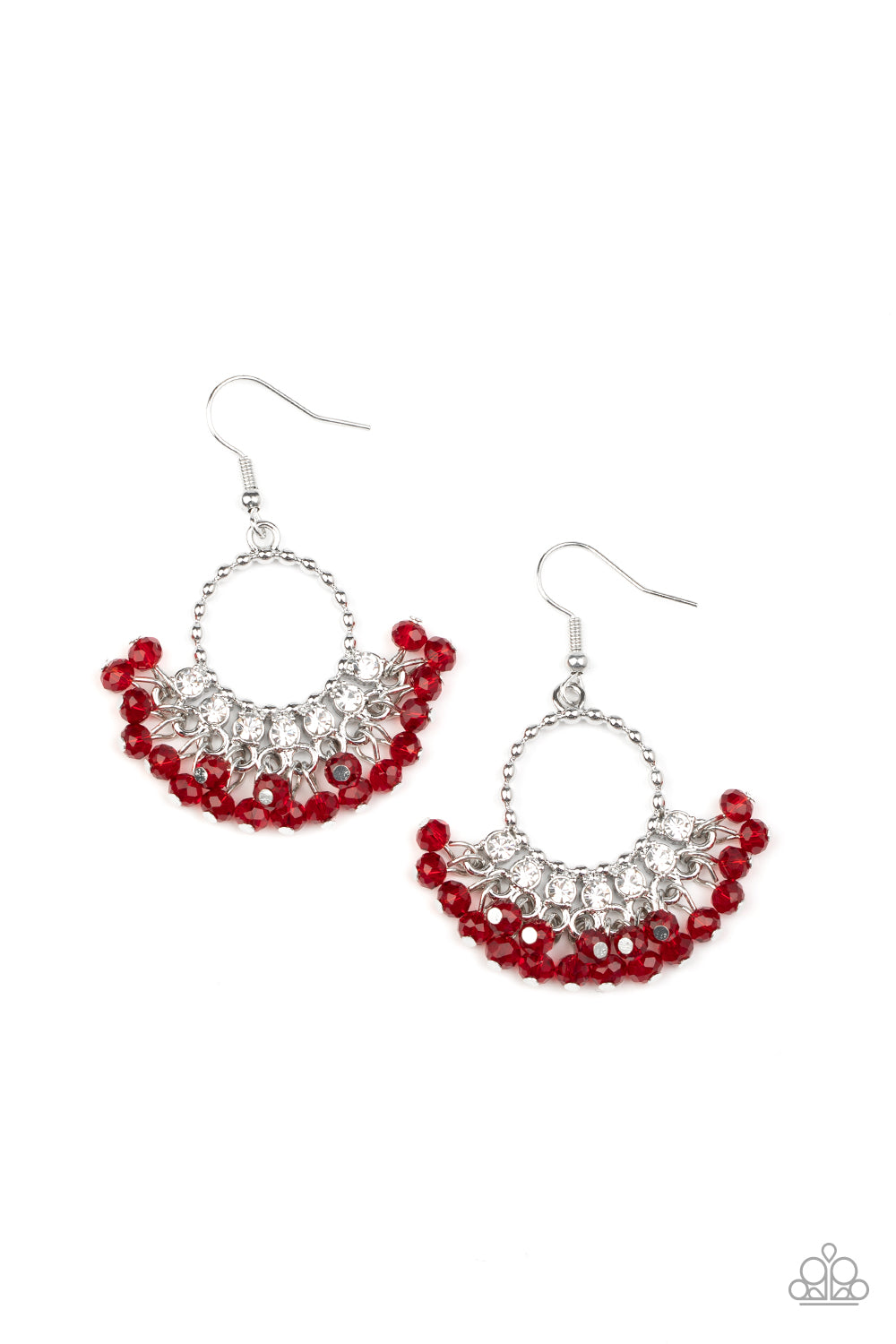 Charmingly Cabaret Red Earring
