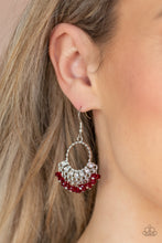 Load image into Gallery viewer, Charmingly Cabaret Red Earring