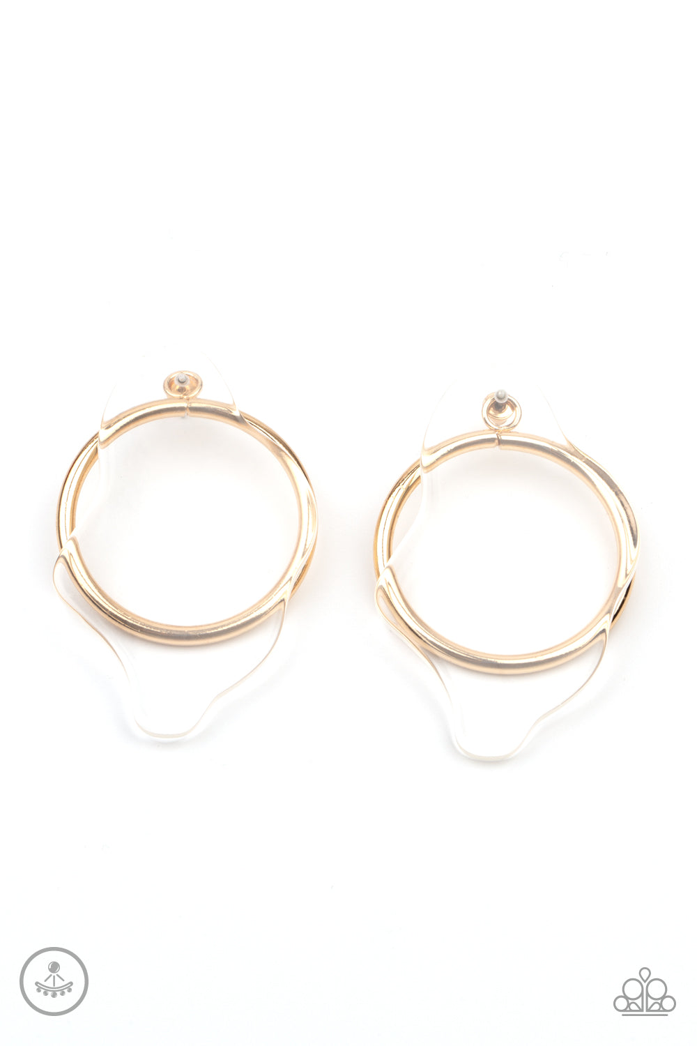 Clear The Way! Gold Earring
