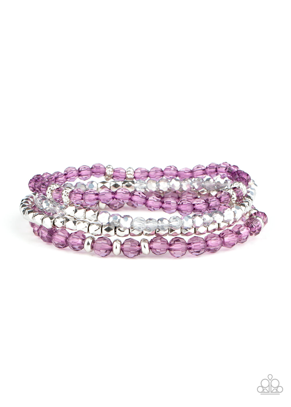 Crystal Crush Purple Bracelet