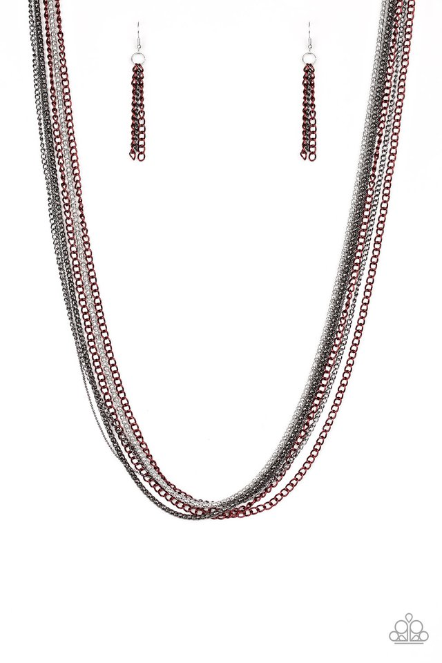 Colorful Calamity Red Necklace