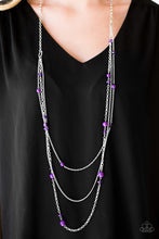 Load image into Gallery viewer, Triple Tango Purple Necklace