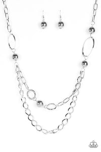 Mega Metal Silver Necklace
